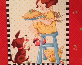 Mary Engelbreit Recipe for Friendship Panel Cotton fabric HTF new Cherries.