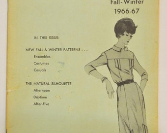 Modes Royale  Mail Order Pattern Catalogue  Fall and Winter 1966-67   Vintage Sewing Patterns Illustrated in Modes Royale