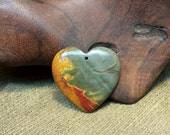 30% off HEARTS Sale! ~ Stunning Picasso Jasper Heart Afire