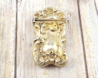 Antique Sterling Silver Match Safe - Mid 1800s - Victorian Era - Repoussé