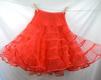 Vintage Red Malco Modes Petticoat Tutu Crinolin