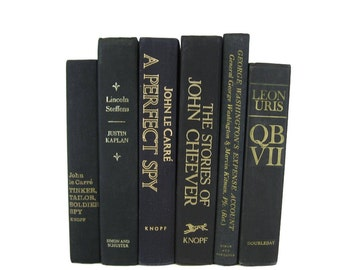Staging Props, Literary Gifts, Wedding Table Centerpieces, Black Decorative Books, Vintage Books,  Old Books,  Photo Props, Gifts for Him