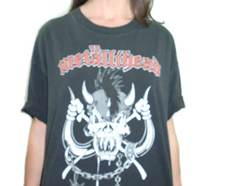 Vintage METAL HEAD Shirt Metallica Fan Club Motorhead Living to Win 1990s Concert shirt Band Tee Metallica shirt Metal shirt Metal Tee XL