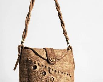 """Boho Eco Handmade Bag """"Golden"""" (felted boho-chic eco-friendly handbags buy)"""