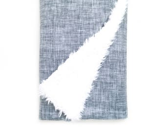 Baby Blanket Gray Texture. The Cloud Blanket. Faux Fur Baby Blanket. Minky Baby Blanket. Gray Baby Blanket.