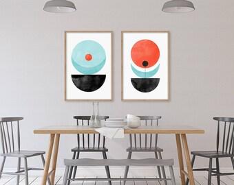 Geometric Poster Art, Scandinavian Prints, Minimalist Posters, Abstract Wall Art, Mid Century Modern Wall Decor, Danish Modern Print