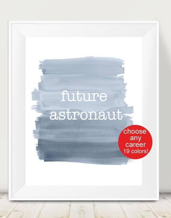Kids Inspirational Print, 11x14, Future Career