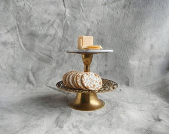 Brass and Marble Treat Stand