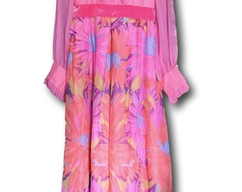 Seventies dress polyester maxi dress