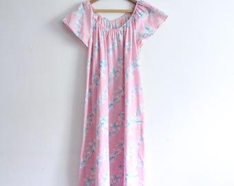 Breezy Hawaiian Floral Mumu Dress