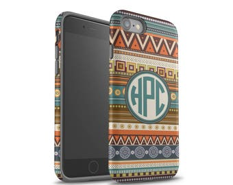 iPhone 7 Plus Case, Aztec, iPhone X Case, Samsung Galaxy S8 Case, Monogram, iPhone 6 Case , Personalized, iPhone 7 Case, Galaxy S7 Case