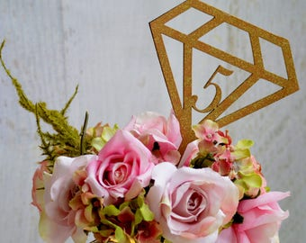 Engagement Table Numbers, Diamond Shaped Table Numbers, Geo Wedding Centerpieces, Table Signs, Bridal Shower Decor Ideas