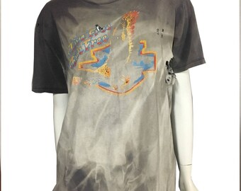 Smokey Mountains Little River Motorcycle Shop Vintage Harley Destroyed Tee