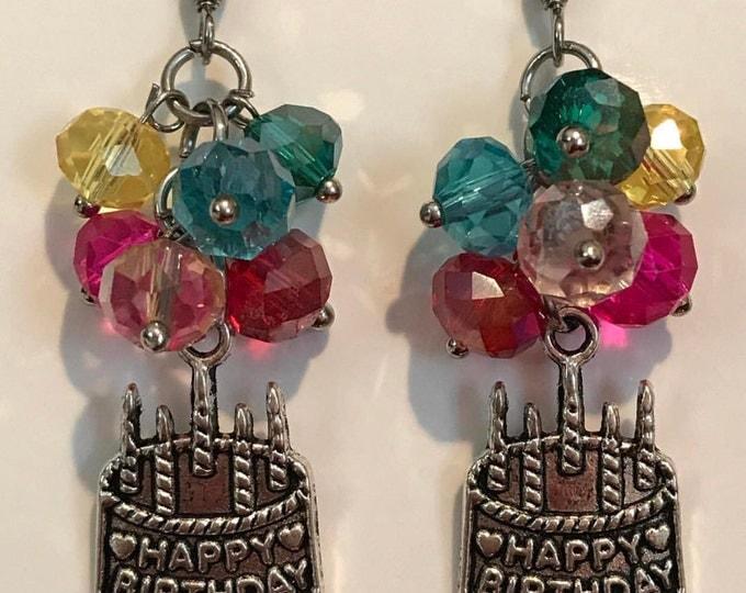 Happy birthday at the Rainbow Bridge my Pet .. earrings