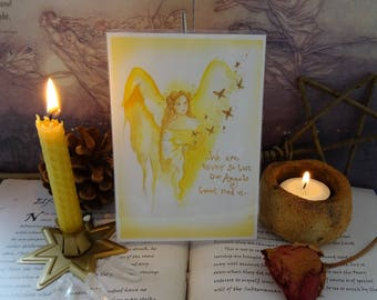 Angel Blessings ~ Mini Laminated Art Print