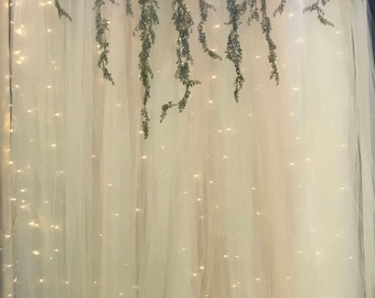 AZ Bridal Show - Single Panel Lighted Wedding Ceremony Backdrop, 5-12 feet wide, Decorations, Decor, Rustic, Romantic, Weddings
