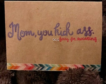 Funny handmade Mother's Day card