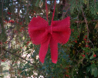 Red Christmas Bows (10 ) 4 inch / Christmas Decorative Decorative Bows / Red Christmas Bow / Christmas Bow