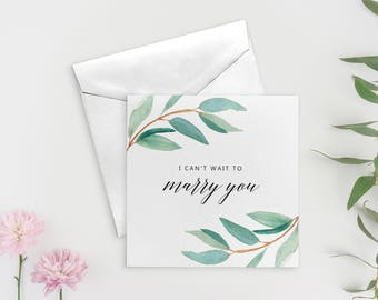 I Can't Wait to Marry You Card, To my Groom Card, To my Groom on our Wedding Day, To my Husband, SKU: WYB001