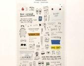 Travel Diary Stickers Sheet
