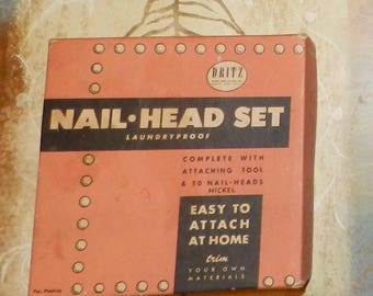Vintage 1940's Dritz Nail-Head Set