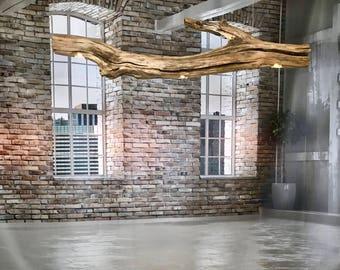 lampe arc sp cial de vieille branche de ch ne. Black Bedroom Furniture Sets. Home Design Ideas