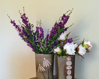 Stoneware Vase with slip decoration