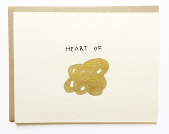 Heart of Gold - Hand Painted - Illustrated Love Card