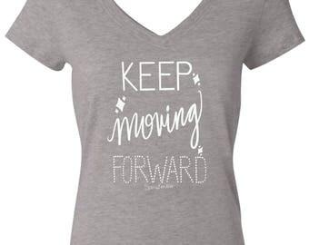 Gray Keep Moving Forward Shirt