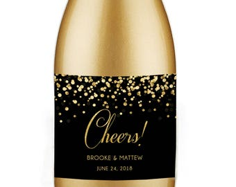 PRINTABLE Cheers Champagne Label, Wedding Wine Label, Mini Champagne Label, Bachelorette Party, Bridal Shower Champagne