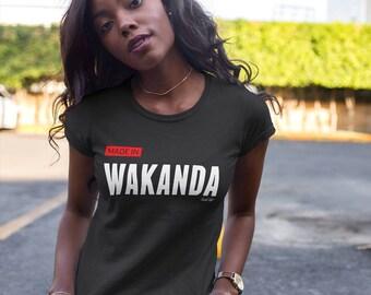 Wakanda T-Shirt Made in Wakanda Tee Black Panther Tee Marvel Comics African American Shirt HBCU Shirt Black Pride African clothing Melanin