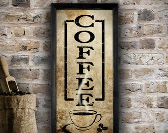 Awesome Coffee Sign, Rustic Kitchen Sign, Kitchen Wall Decor, Coffee Decor, Rustic  Wall Part 27