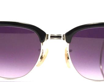 Vintage eyewear sunglasses. Made in USA 1950 by Art Craft. Excellent quality and condition. Gold filled. Midcentury modern's best! Very Hip!