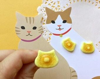 Cat pancake ring Cat jewelry Cat rings Pancake rings Food rings Creative Unique cat lover gift Cute cat jewelry Kawaii cat jewelry