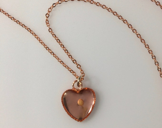 Mustard Seed Jewelry, Faith Jewelry, Mustard Seed Necklace, Christian Gifts, Rose gold heart necklace, Matthew 17:20 necklace