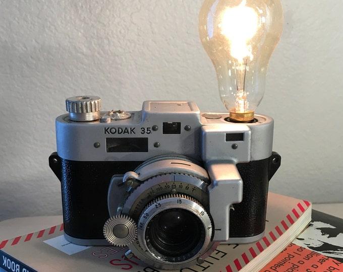 35MM Kodak Camera Accent light. Perfct Gift for photographers. Vinatge lamp