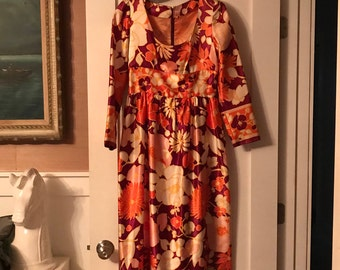Vintage Long Sleeved Dress/ Gown