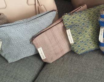 Handmade in Italy woven pouch