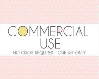 Commercial Use - No Credit Required - ONE SET ONLY - Digital Clip art - Digital Papers