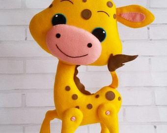 Felt Giraffe Felt animals Felt gift
