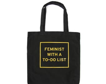 Feminist Tote Bag - Feminist With A To-Do List