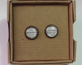 1963 French Dictionary Stud Earrings - Shipwreck