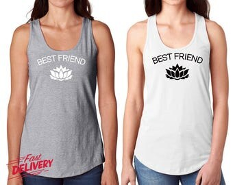 Matching Shirts, Birthday Shirts, Funny Tank, Women's Clothing, Best Friend Gift, Best Friend T-shirts, Birthday Gift, BFF Gift V14