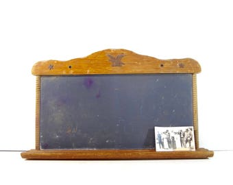 Vintage Chalkboard in Wooden Frame / Wall Hanging Chalkboard / Primitive Decor