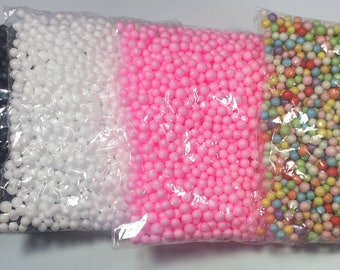 Large Foam Beads - Individual Bags (bag size 7 1/2 inch X 6 inch)