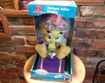 Fortune Teller Tweety, New in box Tweety, Tweety brid, new old stock toys, Vintage Looney Tunes Toy, Warner Brothers Toy