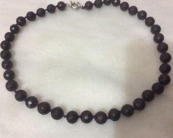 Raw Garnet beaded 20inches necklace