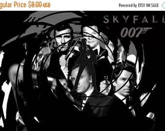 james bond Cross Stitch Pattern 007 cross stitch 007 pattern bond pattern - 276 x 184 stitches - INSTAT Download - B1068