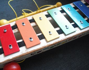 Fisher Price pull along glockenspiel xylophone