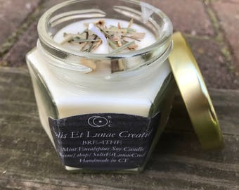 BREATHE - aromatherapy candle, eucalyptus candle, peppermint candle, essential oil candle, natural candle, homemade essential oil candle
